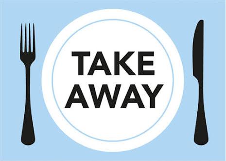 Skylt Take Away A4 plast