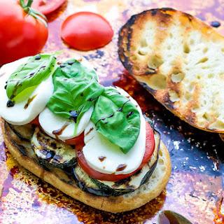 Grilled Veggie Caprese Sandwich.