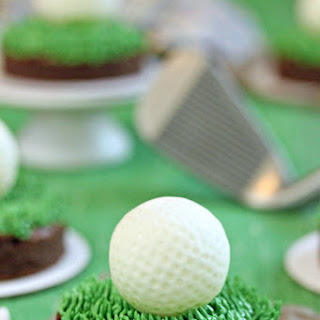 Golf Ball Truffles and Putting Green Brownies
