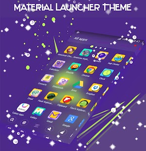Material Launcher Theme - náhled