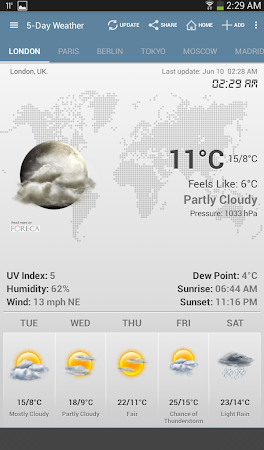 Weather & Clock Widget Android 5.0.1.2 screenshot 952