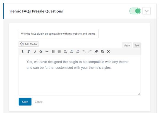 Visual editor in Heroic FAQ