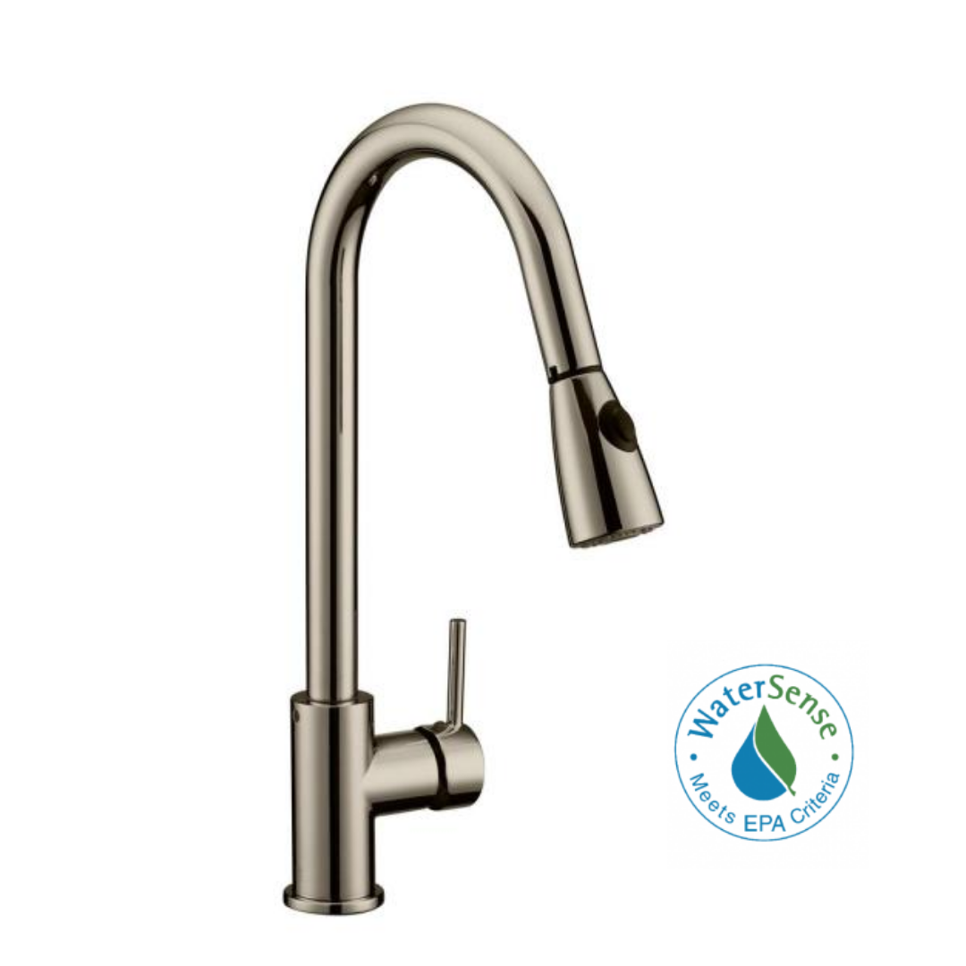 faucet with a pull-down sprayer