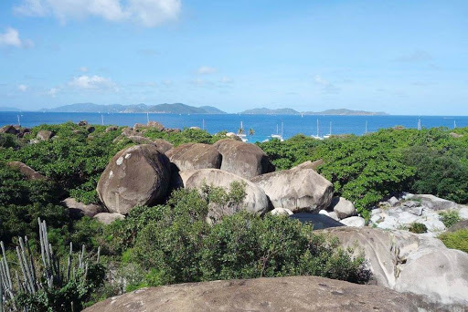 View_Top_Baths_Patio - The view from the patio at Top of the Baths restaurant on Virgin Gorda.