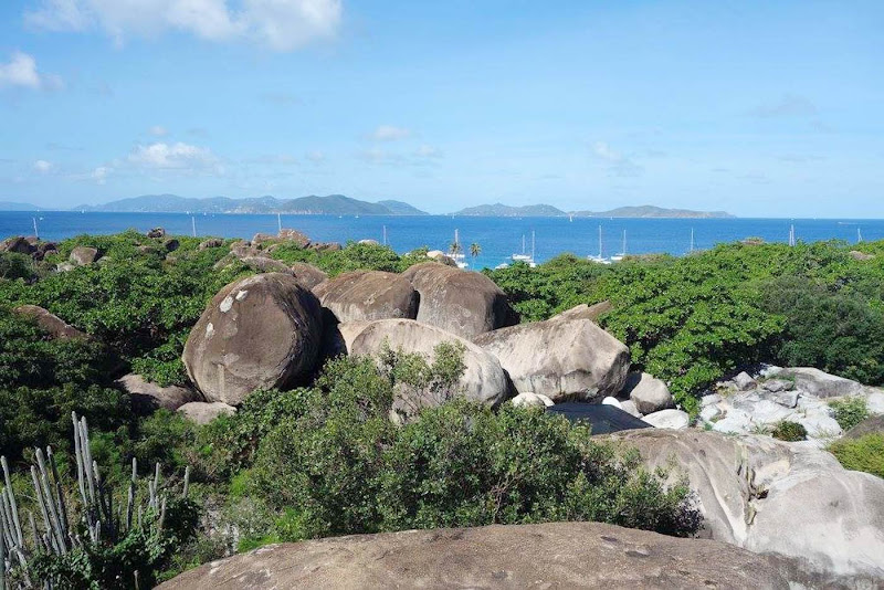 The view from the patio at Top of the Baths restaurant on Virgin Gorda.