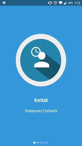 Kontak - Temporary contacts