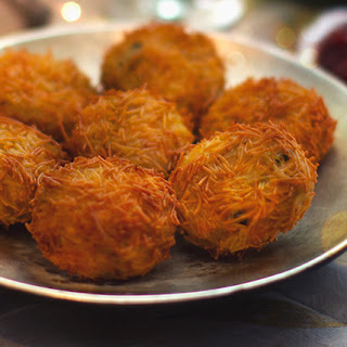 Fish Cakes with a Vermicelli Crunch.