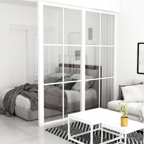 Industrivägg vägg + vägg vit