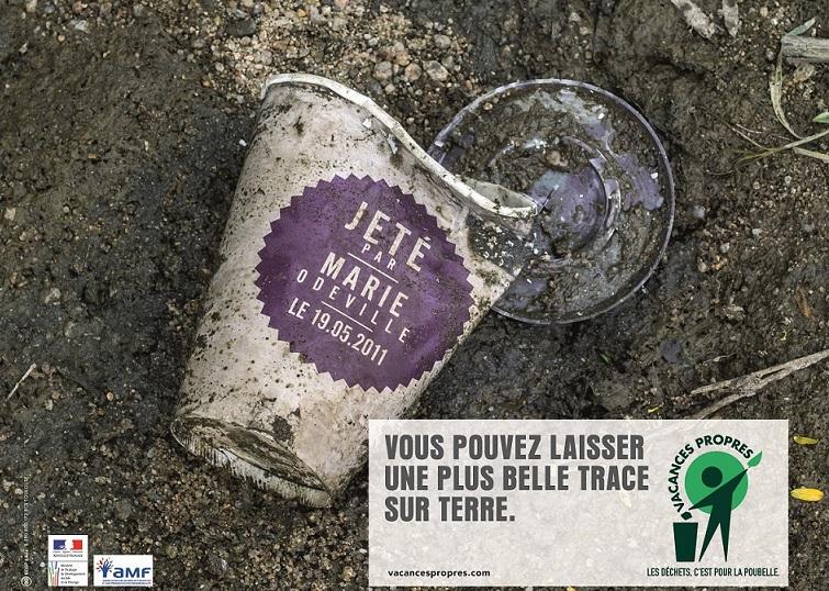 """Embalagem jogada fora - Campanha francesa """"feiras limpas"""""""
