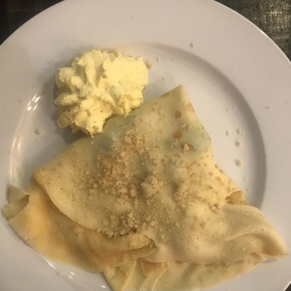 Lemon bar crepes