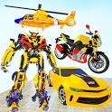 Flying Helicopter Robot Car Transform Shooting War icon