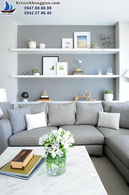 thiết kế nội thất phòng khách hiện đại và trẻ trung tại hà nội