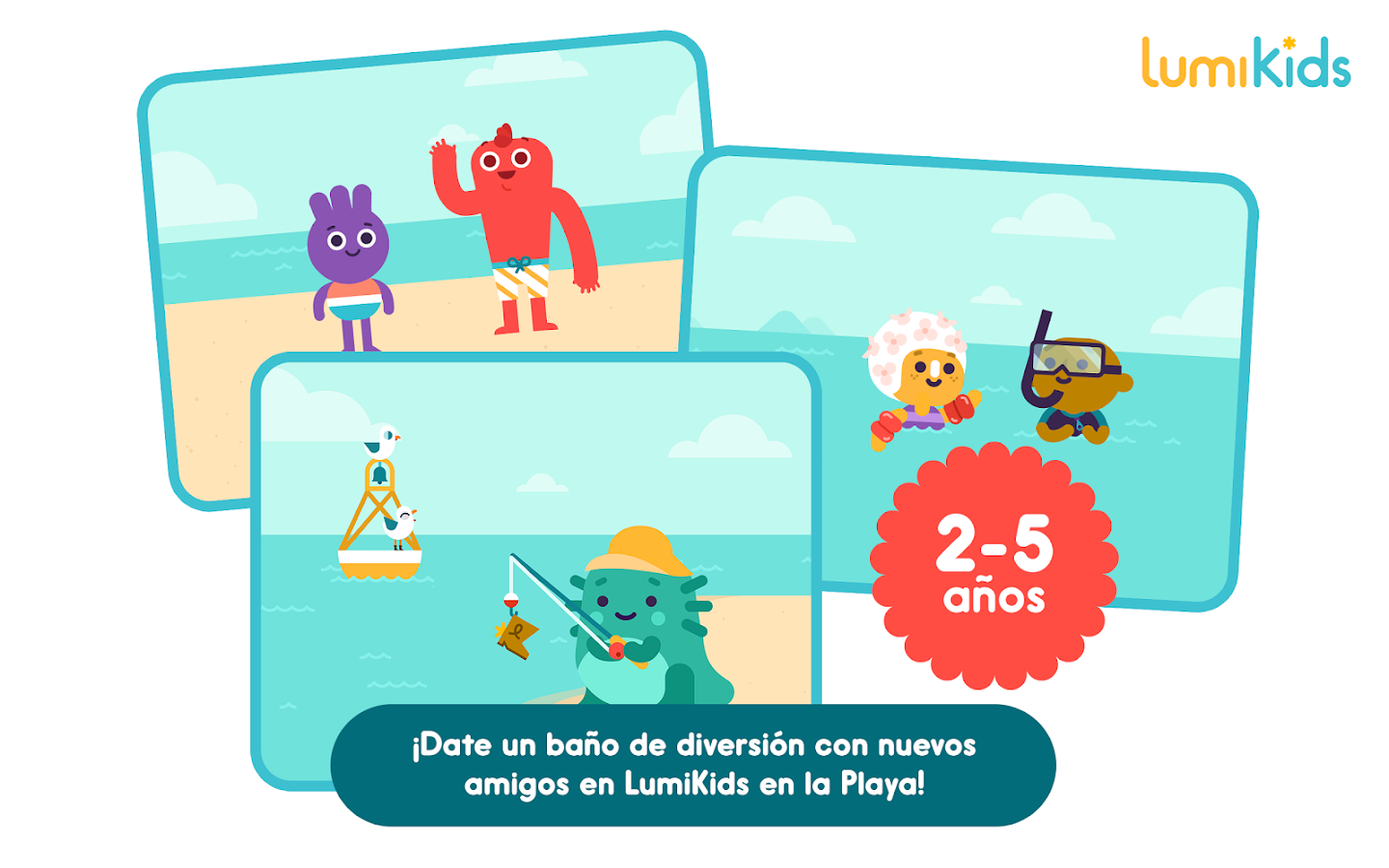 LumiKids en la Playa: captura de pantalla