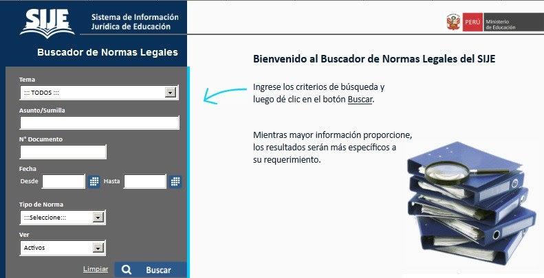 Sistema de Información Jurídica de Educación – SIJE