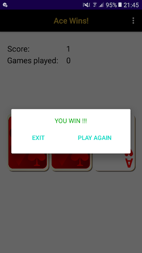 Ace Wins! A simple 3 cards game. apktram screenshots 1