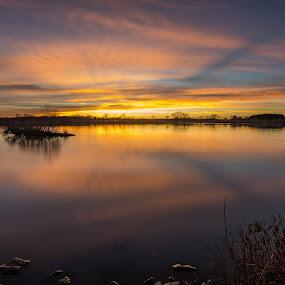 Midwest warmth by Matt Hollamon - Landscapes Sunsets & Sunrises ( tokina1116, littlestopper, long exposure, nikond500, nebraska )