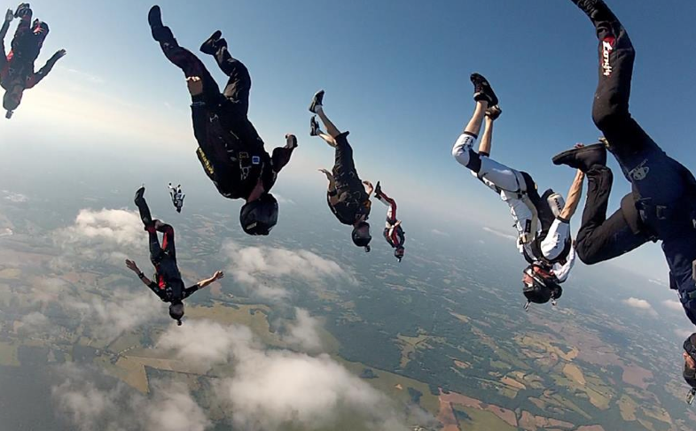 sky diving tracking