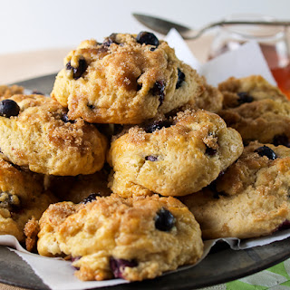 Blueberry Maple Drop Biscuits