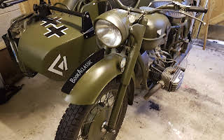 BMW R71 Ww2 Motorcycle & Sidecar Rent South West