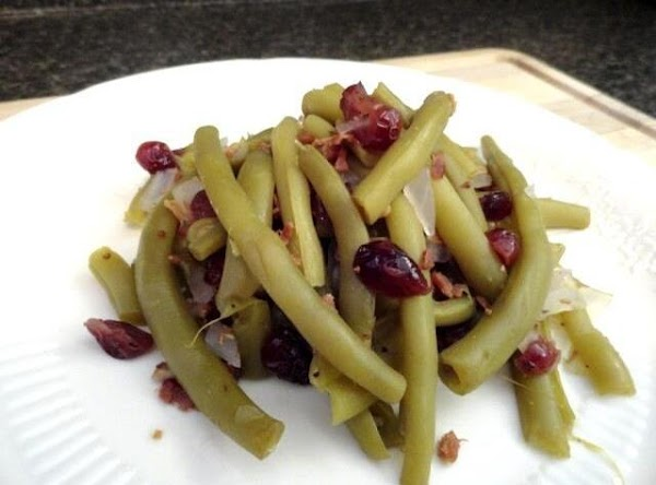 Greenbeans And Dried Cranberry Recipe