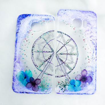 [訂製/custom-made] 摩天輪押花手機殼 Ferris Wheel Pressed Flowers Phone Case