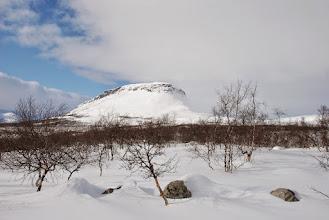 Kuva: Vaellus hyvässä alussa, Kilpisjärven mahtava Saana