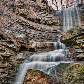 Billy Green Falls.  by Carl Chalupa - Landscapes Waterscapes ( hamilton on, waterfalls, billy green falls,  )