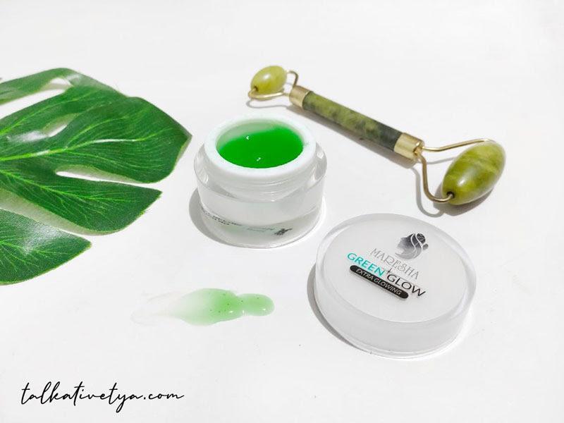 tekstur serum gel maresha yang ringan dan mudah diserap kulit