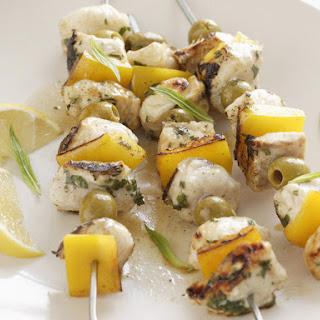 Easy Mediterranean Fish Skewers.