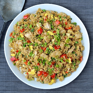 "Quinoa Fried ""Rice"" with Tuna"