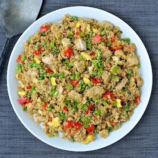"Quinoa Fried ""Rice"" with Tuna."