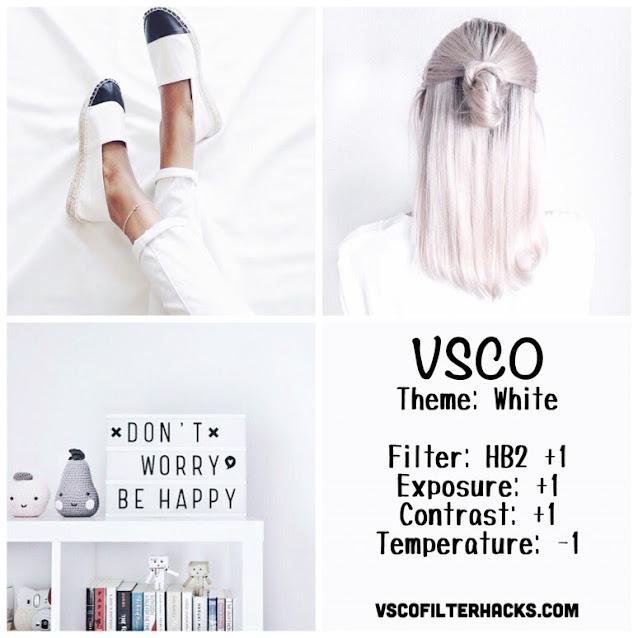 White Instagram Feed Using VSCO Filter HB2
