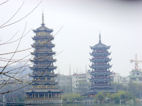 Photo: Ancient Sun and Moon Pagodas built in 1999AD