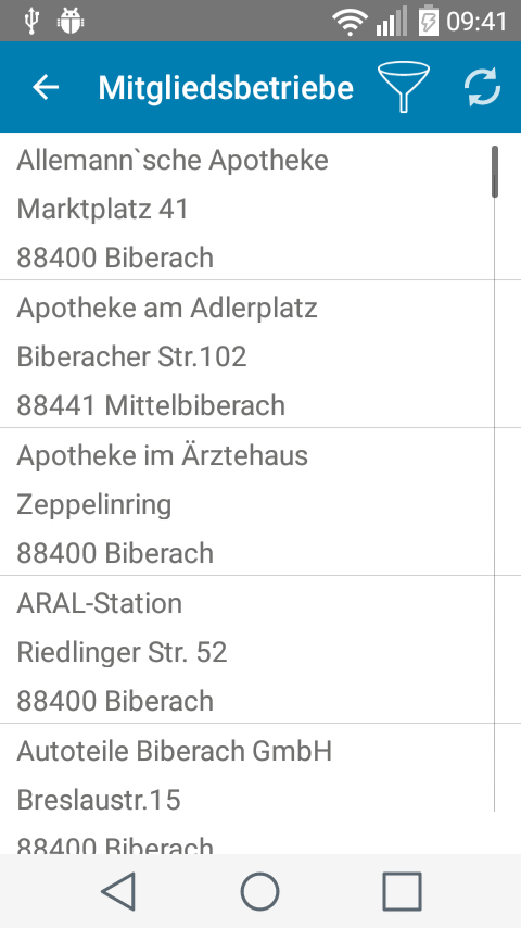 biberCard-App- screenshot
