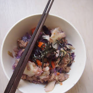Pressure Cooked Cabbage with Minced Pork.