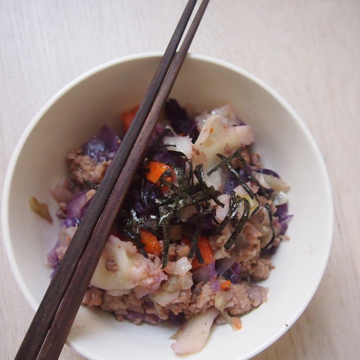 Pressure Cooked Cabbage with Minced Pork Recipe