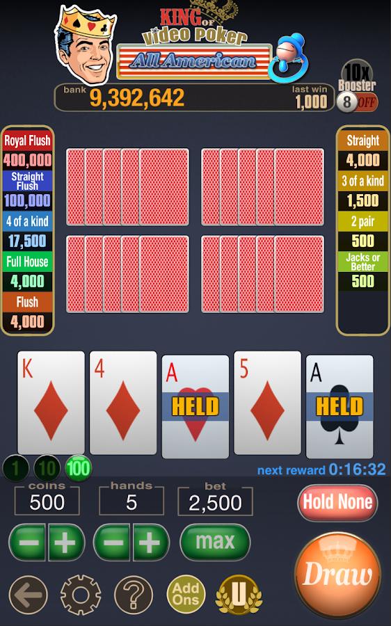Jacks or Better Multi Hand - Rizk Casino