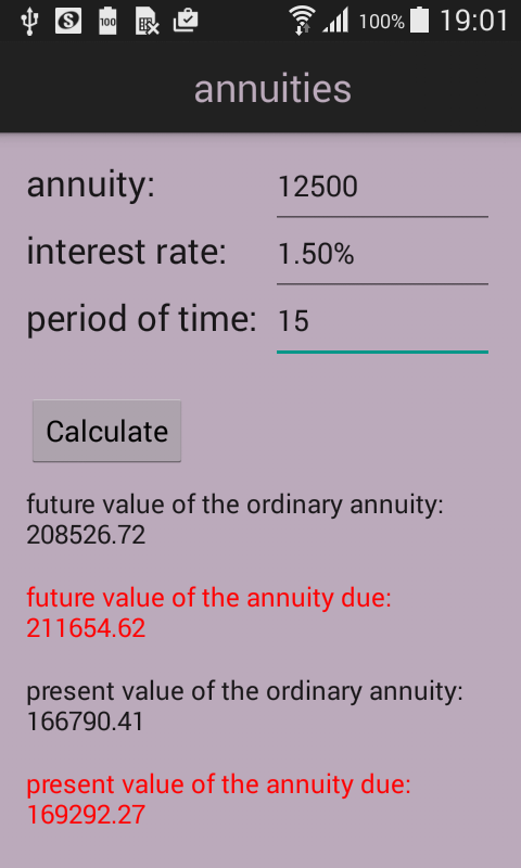 FinCalc- screenshot