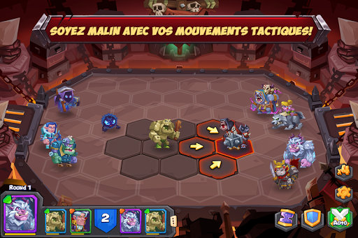 Tactical Monsters Rumble Arena -Tactics & Strategy  captures d'écran 1