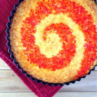 Cheesy Cauliflower Swirl Quiche