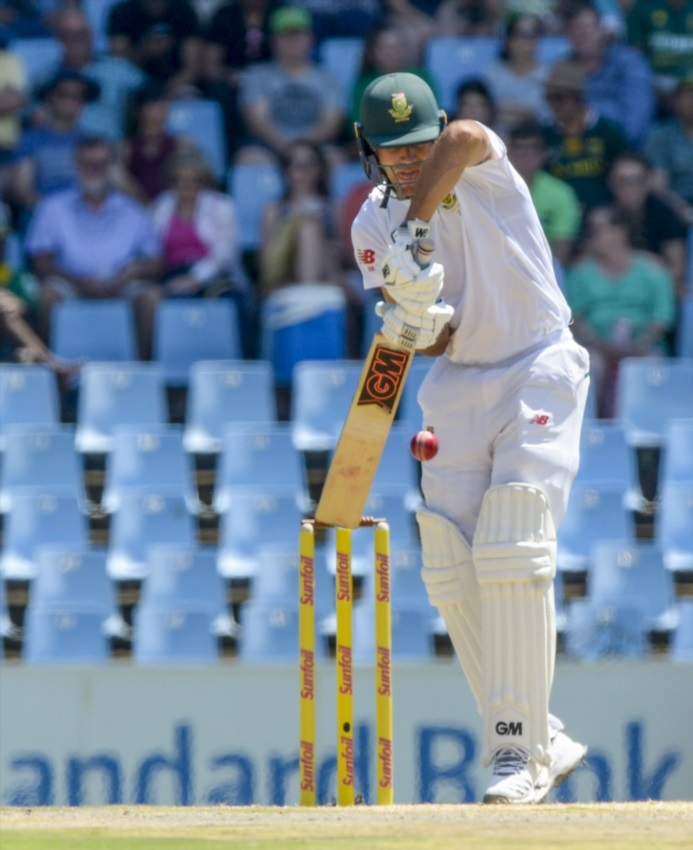 PRETORIA, SOUTH AFRICA - JANUARY 13: Aiden Markram of South Africa during day 1 of the 2nd Sunfoil Test match between South Africa and India at SuperSport Park on January 13, 2018 in Pretoria, South Africa.