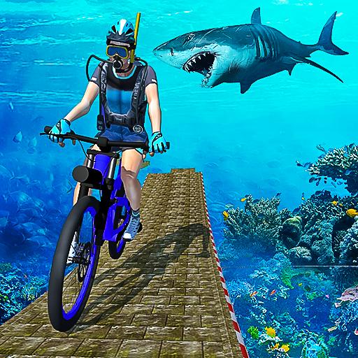 Underwater Bicycle Stunts: Ramp Racing