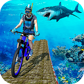 Underwater Bicycle Stunts: Ramp Racing