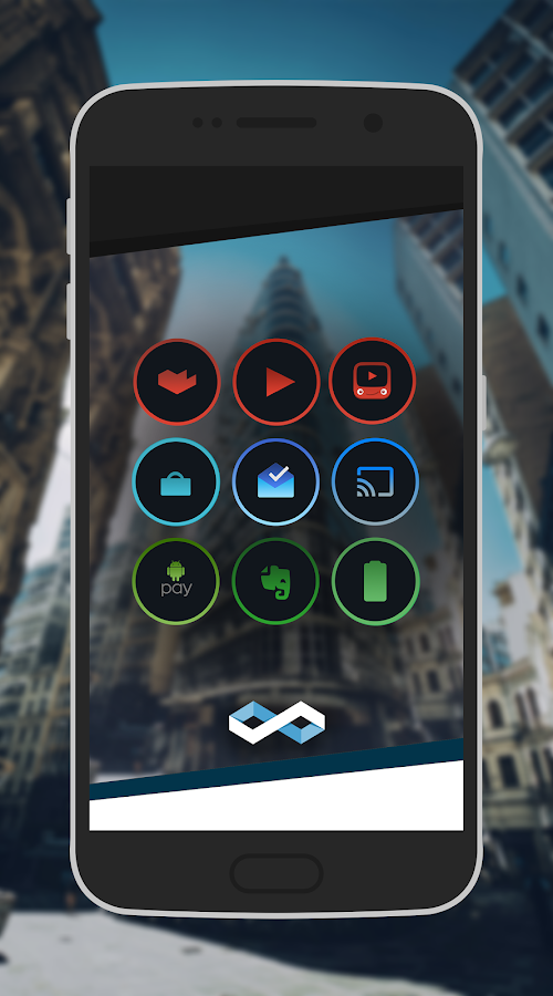 Infinite Dark Icons - Nova/GO- screenshot