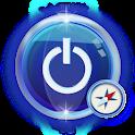 Flashlight compass icon