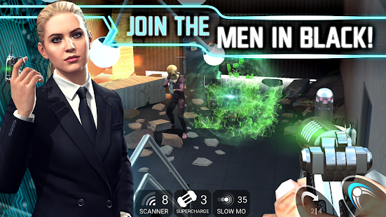 MIB: Galaxy Defenders Free 3D Alien Gun Shooter Screenshot
