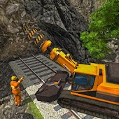 Railroad Tunnel Construction Sim: Train Games Android APK Download Free By Sablo Games