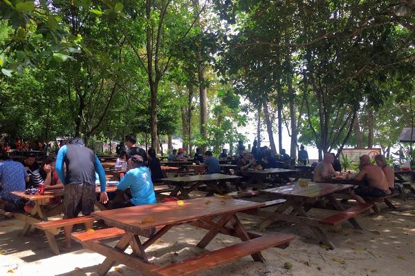 Enjoy lunch at the park ranger canteen