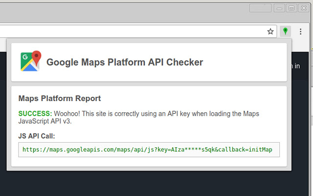 Google Maps Platform API Checker on google map example, google map drawing, google maps car driving, google maps ui, google maps bird's eye view, google sky map, google maps lv, google maps offline, google mobile friendly, google maps thirteen original colonies, google maps messages, google maps ap, google maps dot, google maps himalayas, google maps 2014, google maps logo, google latitude history view, google maps online, google maps icon,