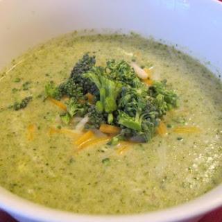 Homemade Broccoli Cheddar Soup.